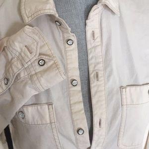 Madewell Tops - Madewell • white denim shirt